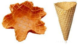 Ice cream cone,Leaf,Wafer,