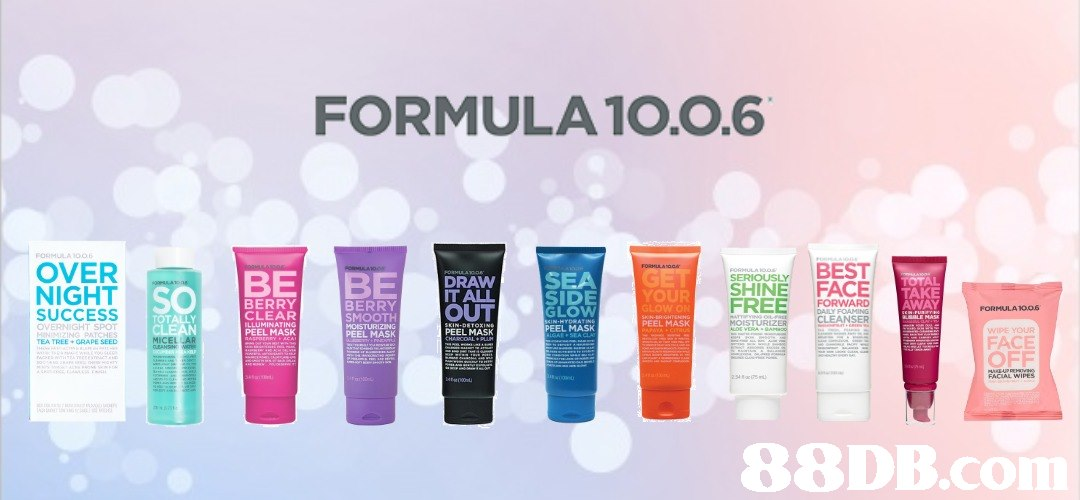 FORMULA 1O.0.6 OVER NIGHT . SEROUSLYBEST SHINEFACE DRAWSEA GET BERRY CLEAR LLUMINATING IT ALL OUT SIDE LO EEL MASK FREE WARD NSER TAKE AWAY BERRY Low PEEL MASK FORMULA1006 SUCCESS OVERNIGHT SPOT PEEL MASK PEEL MASK PEEL MASK WIPE YOUR FACE MICEL OFF FACIAL WIPE 88DB.co  Product,Beauty,Material property,Cream,