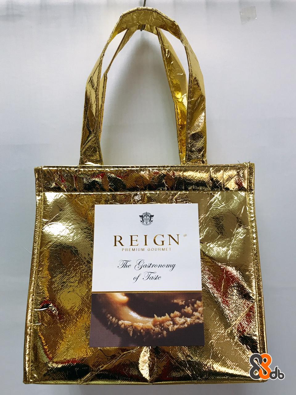 REIGN PREMIUM GOURMET db  Bag,Handbag,Fashion accessory,Material property,Shoulder bag