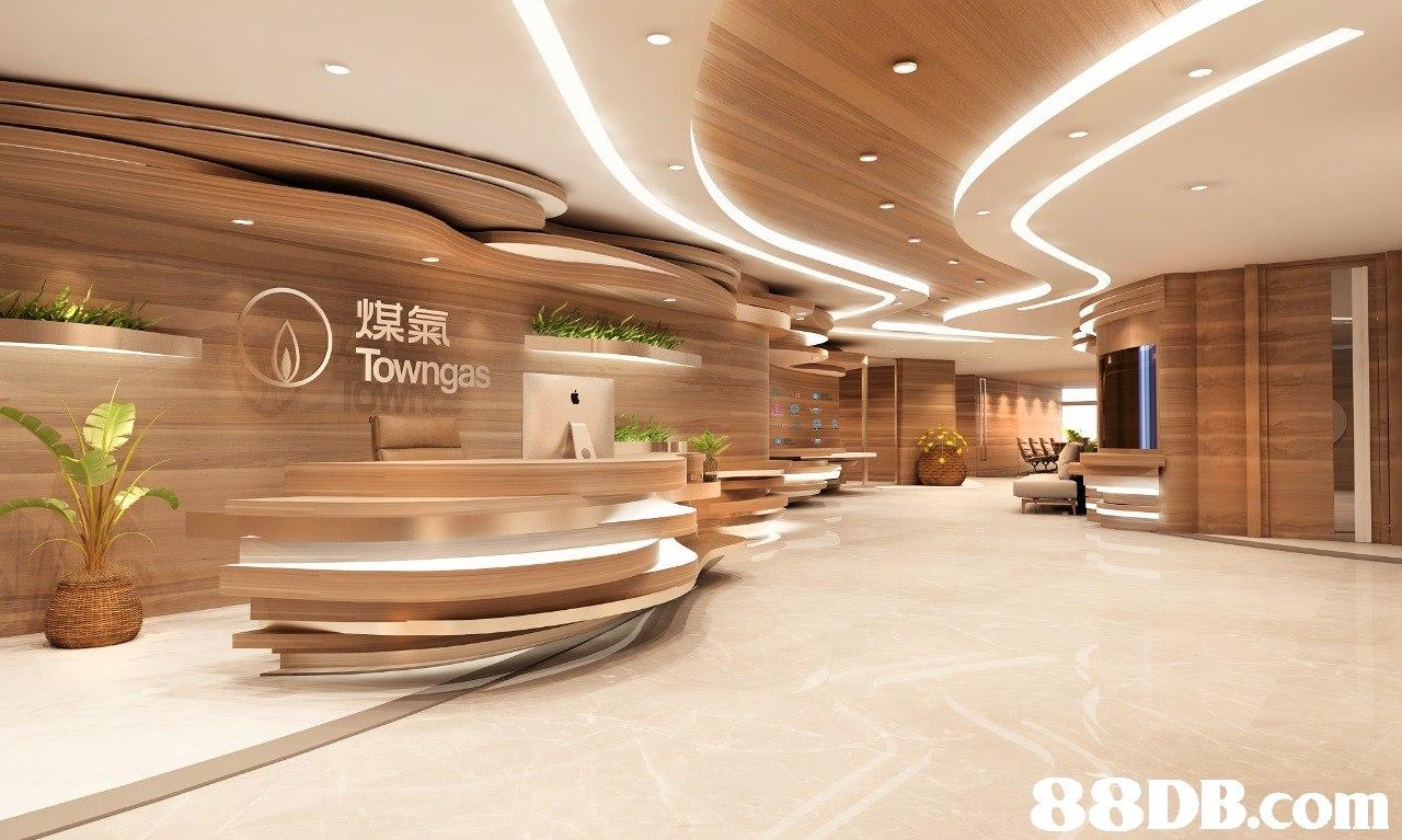 煤氣 Towngas   Lobby,Interior design,Building,Ceiling,Architecture