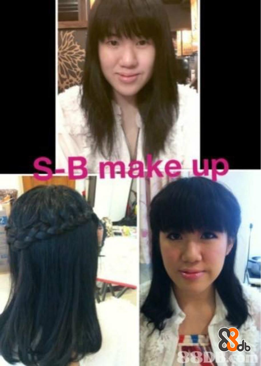 S-B make up TA  Hair,Hairstyle,Black hair,Hair coloring,Bangs