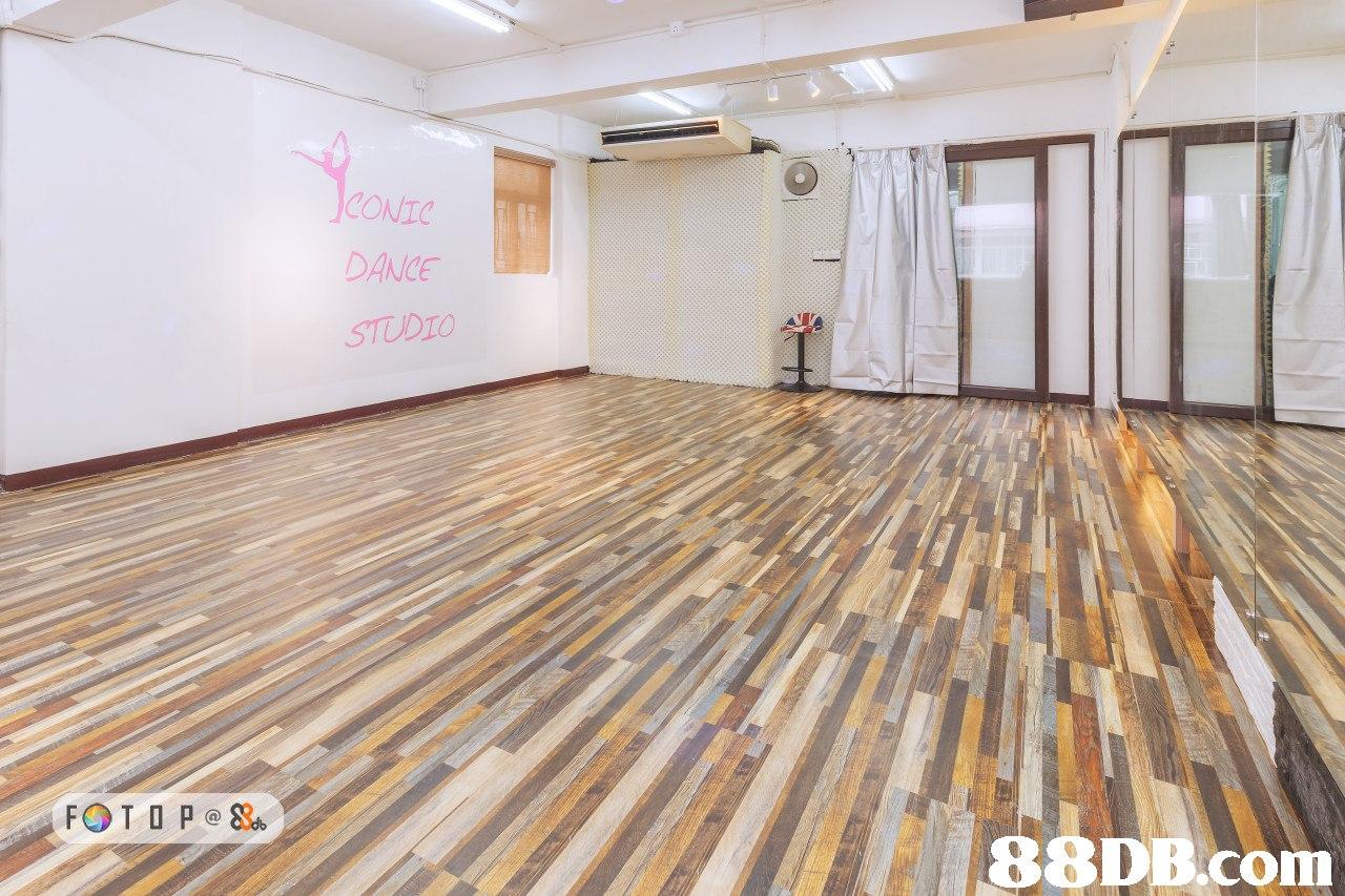 CONTO DANCE STUDIO FOTO P   Floor,Flooring,Property,Wood flooring,Room