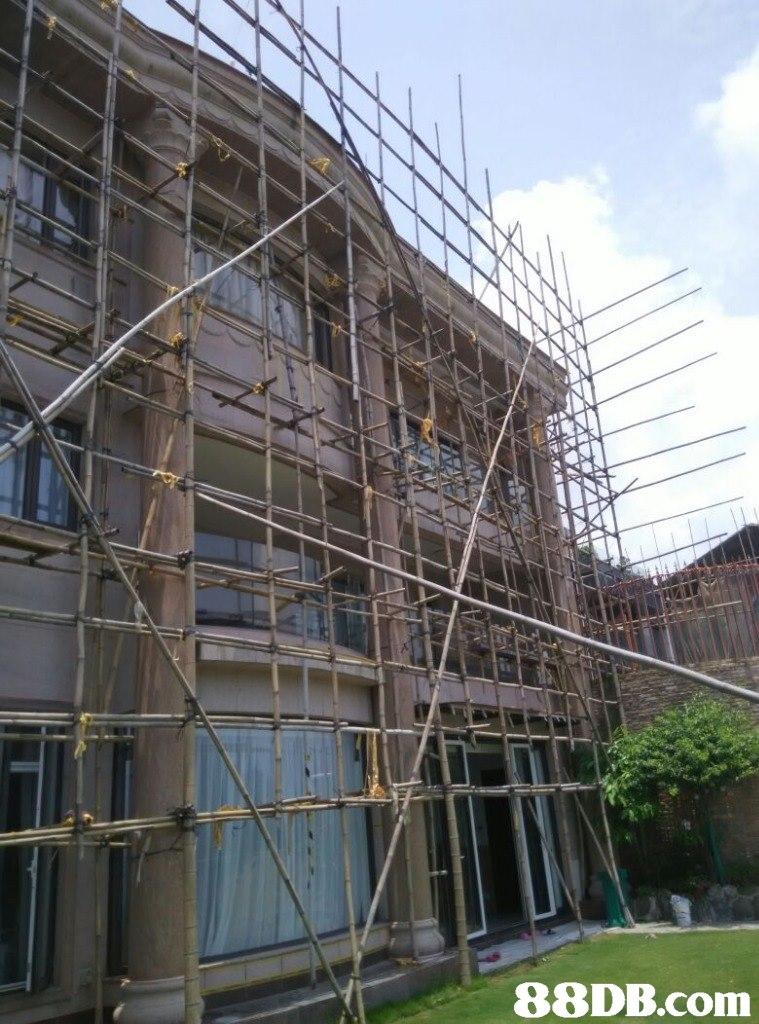 Scaffolding,Property,Building,Architecture,Condominium
