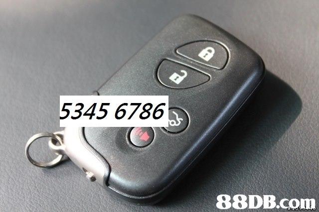 5345 6786   Keychain,Car,Car alarm,Vehicle,Font