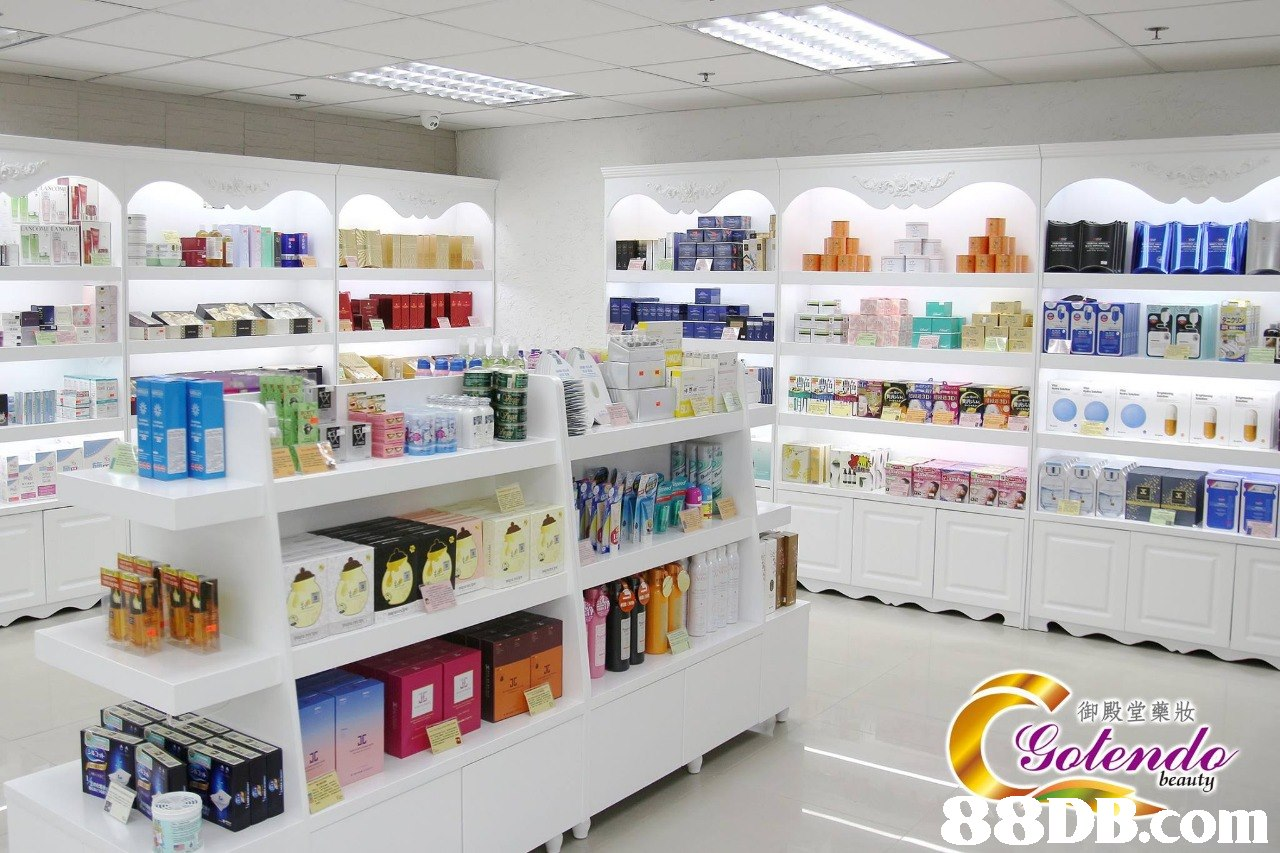御殿堂藥妝 Sotend beauty om  Product,Shelf,Building,Retail,Shelving