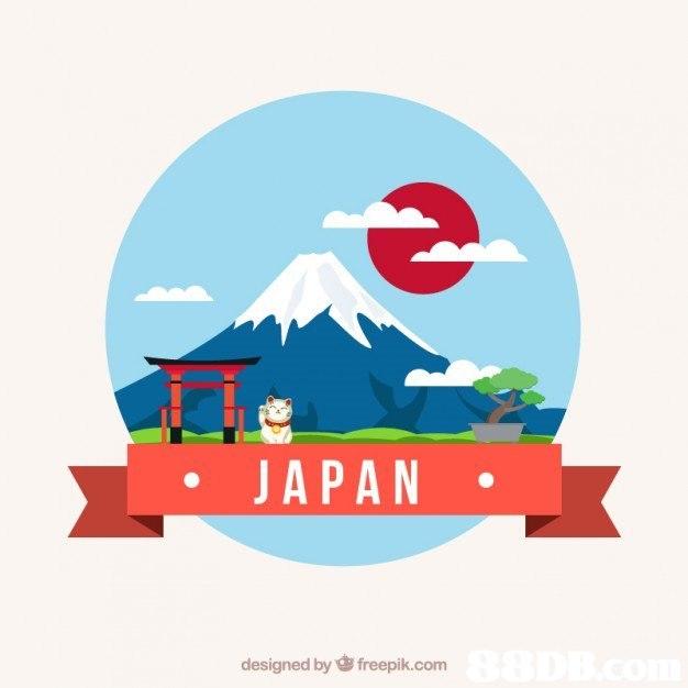 JAPAN designed byfreepik.com  Illustration,Logo,Font,Art,Graphic design