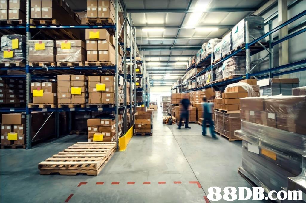 F.   Warehouse,Inventory,Building,Warehouseman,Aisle
