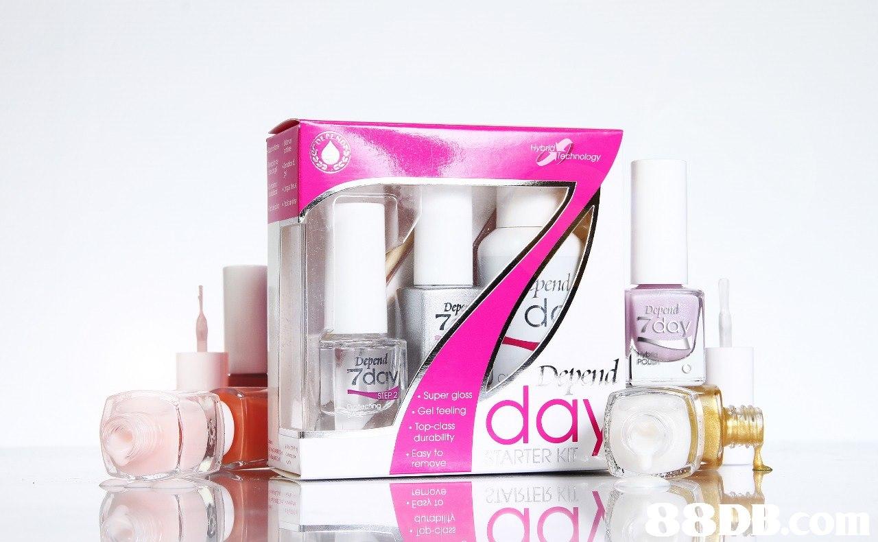 เรื่ en Ici Depend 7 Depend 7day STEP 2 Super gloss Gel feeling day .Top-class durability . Easy to RTER KI remove  Pink,Product,Perfume,Beauty,Cosmetics