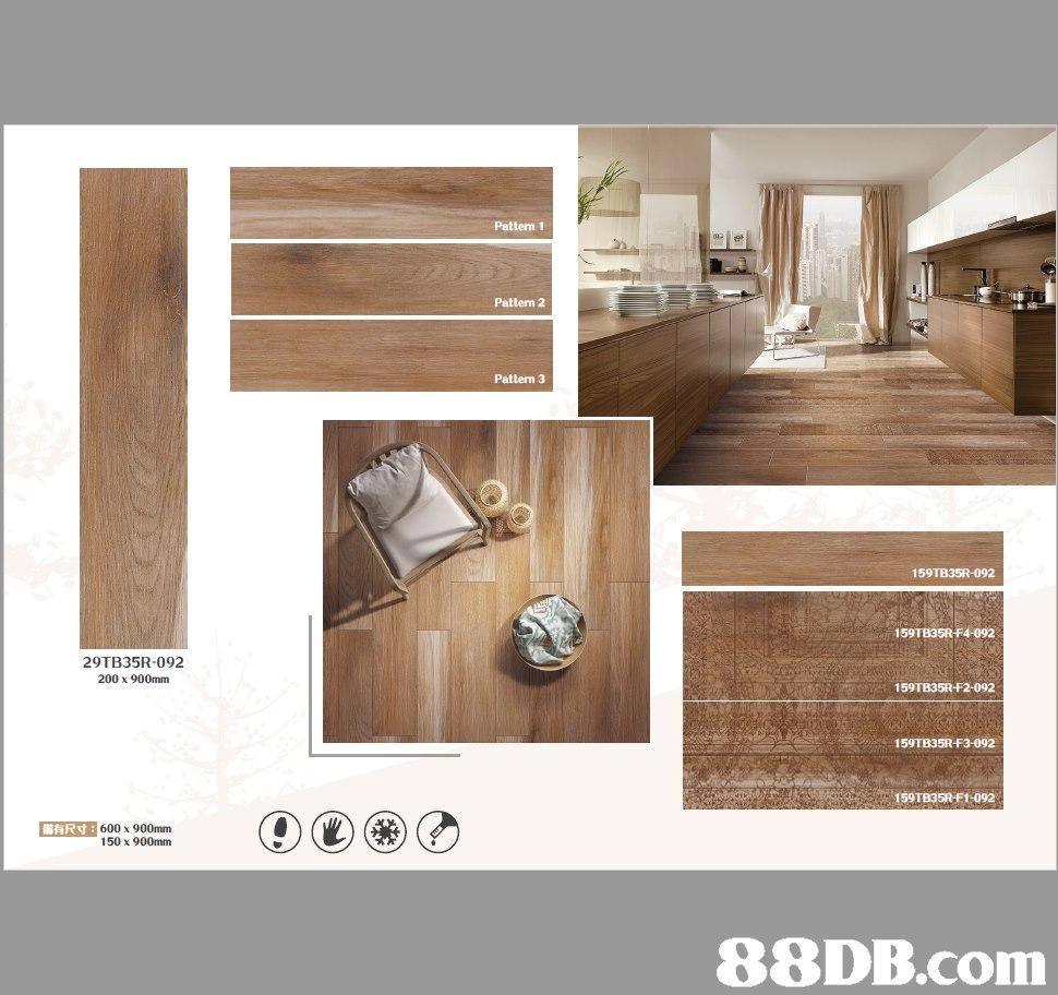 Pattern 1 Pattern 2 Pattern 3 159TB35R-092 29TB35R-092 200 x 900mm 159TB35R-F2-092 159TB35R-F3-092 159TB35R-F1-092 WARN : 600 x900mm 150 x 900mm   Floor,Wood,Hardwood,Flooring,Room