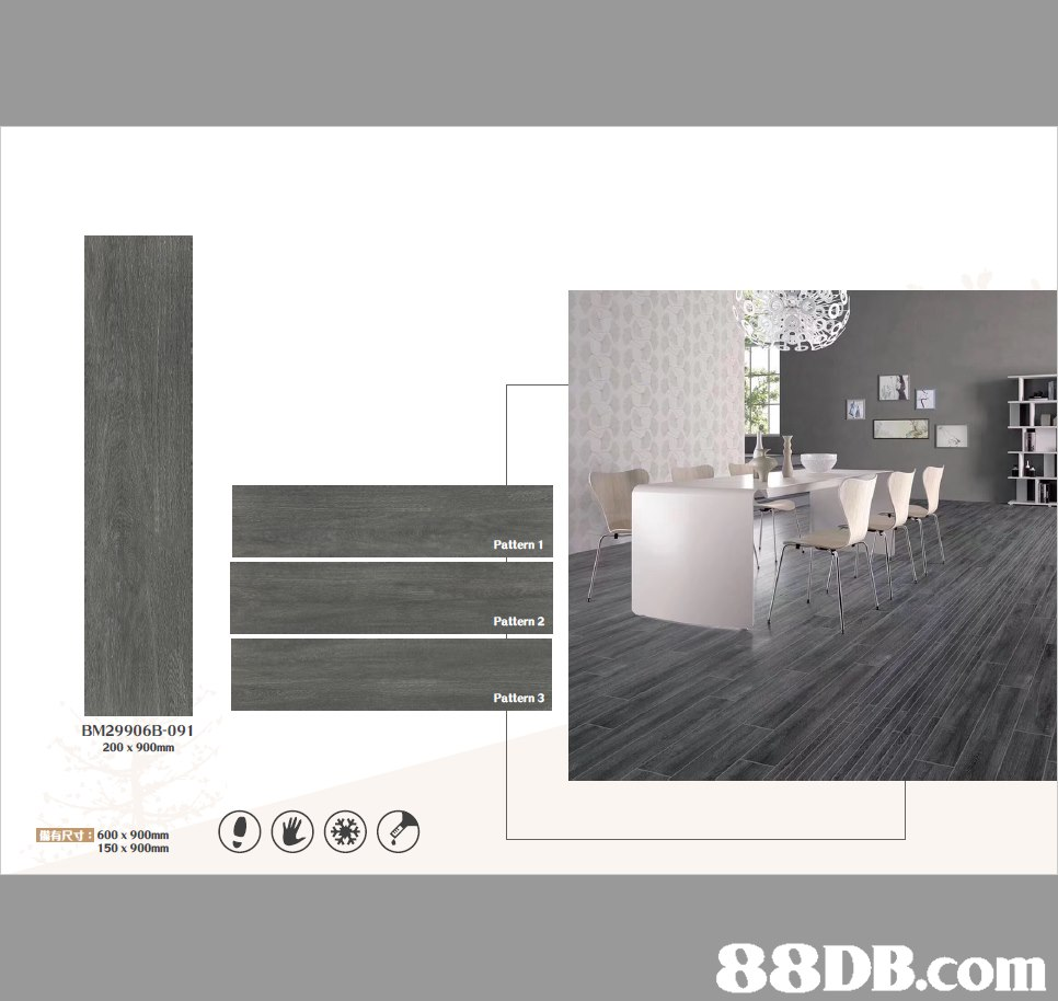 Pattern 1 Pattern 2 Pattern 3 BM29906B-091 200 x 900mm ARd: 600 x 900mm 150 x 900mm   Product,Room,Floor,Tile,Interior design
