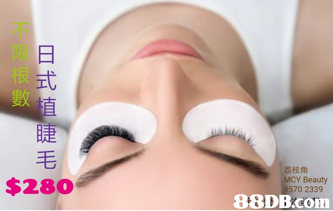 不 限日 根 甙 植 睫 毛 數 荔枝角 MCY Beauty 9570 2339 $280   Eyelash,Eyebrow,Skin,Eye,Face