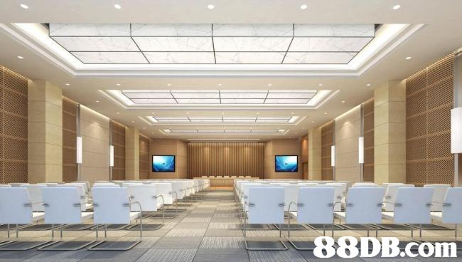 Ceiling,Building,Room,Interior design,Conference hall