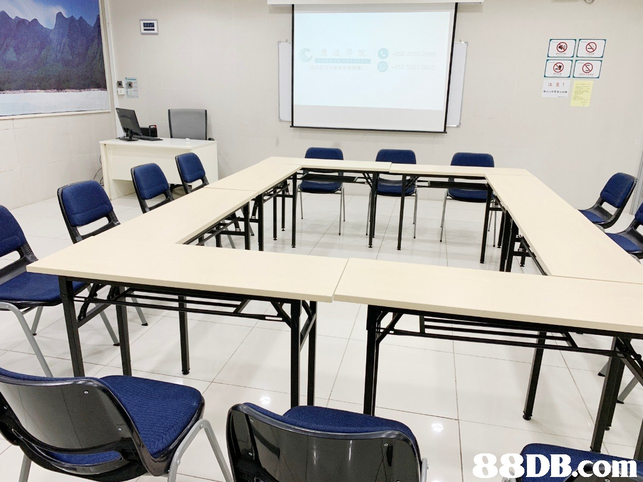 注意! 8 DB.com  Room,Classroom,Conference hall,Table,Furniture