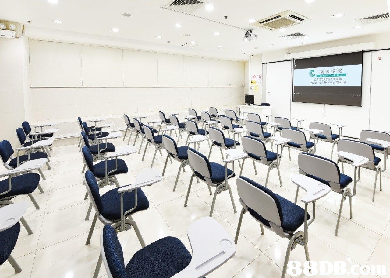 [政府認可之慈核免稅機構) Government Registered Charity)  Classroom,Room,Building,Conference hall,Event