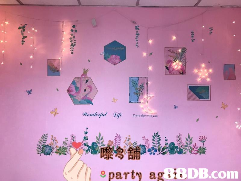 Honderfud Vife Every day with you 9 party agDIE,Pink,Room,
