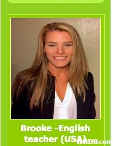 Brooke -English teacher (USANDB.co  Hair,Blond,Hairstyle,Long hair,Brown hair