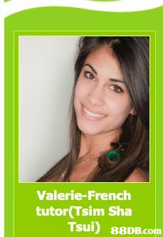 Valerie-French salsh tutor(Tsim Sha Tsui)   Hair,Face,Green,Skin,Eyebrow