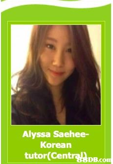Alyssa Saehee- Korean tutor(CentrDBco DB.com  Hair,Text,Hairstyle,Long hair,Hair coloring