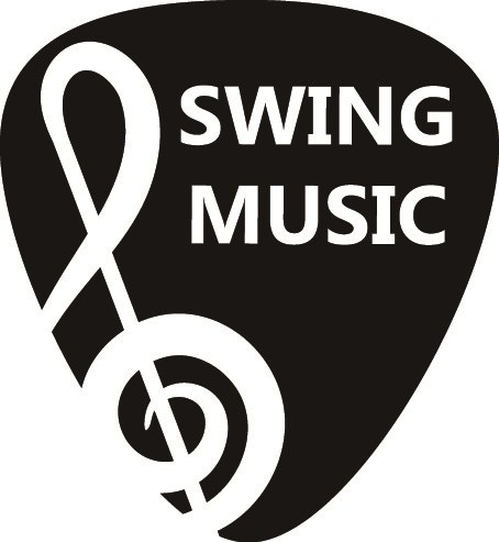 SWING MUSIC  Musical instrument accessory,Font,Guitar accessory,Logo,String instrument accessory