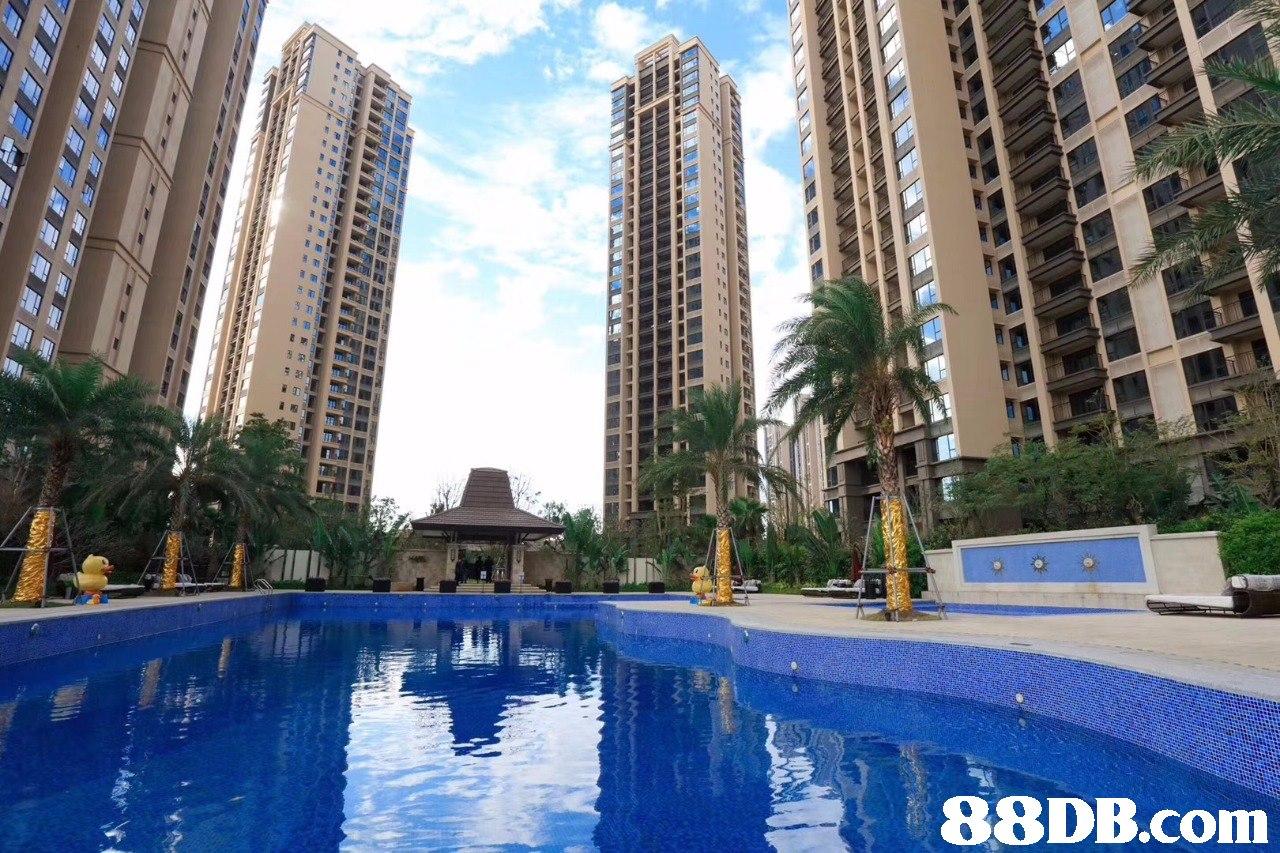 Building,Condominium,Metropolitan area,Property,Swimming pool