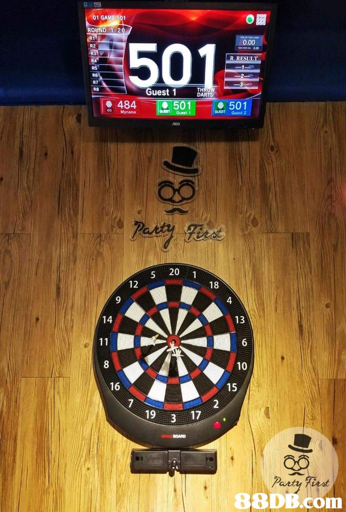 01 GAME 501 ROUND 1/20 0.00 501 Guest 1 DARIS 501 GUEST Guest 2 484 ODMyname nOC 20 1 18 12 4 9 13 14 10 15 16 2 7 19 3 irst   Dartboard,Indoor games and sports,Darts,Games,Recreation