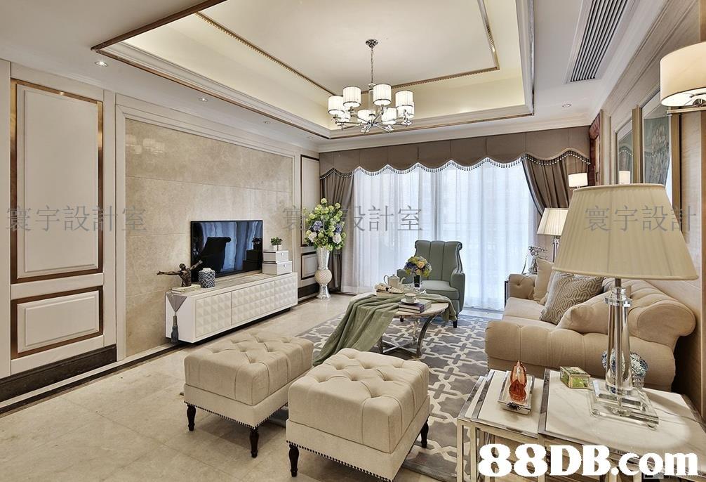 宇設 88DB com  Living room,Room,Interior design,Ceiling,Furniture