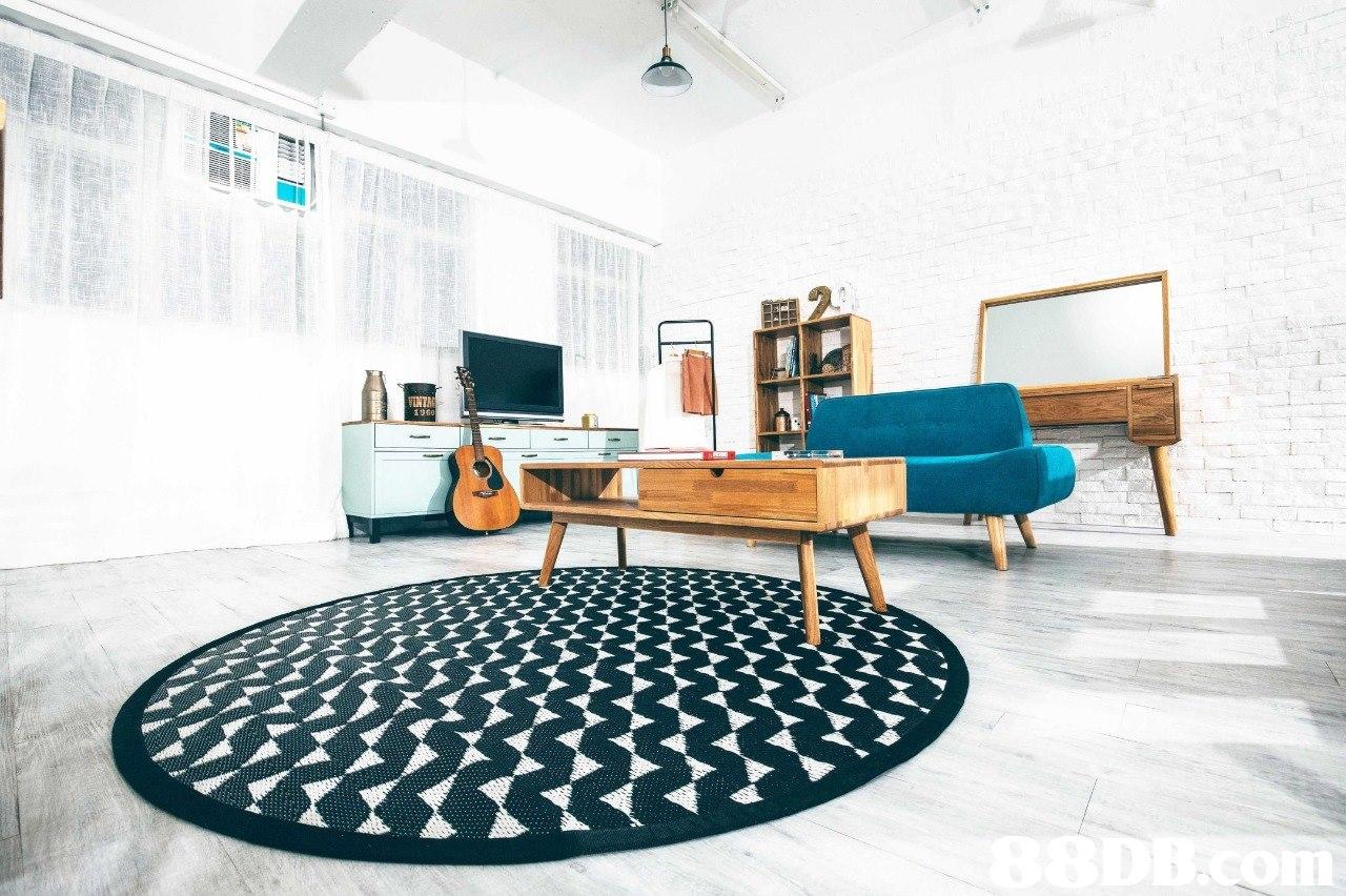 Blue,Interior design,Furniture,Floor,Room