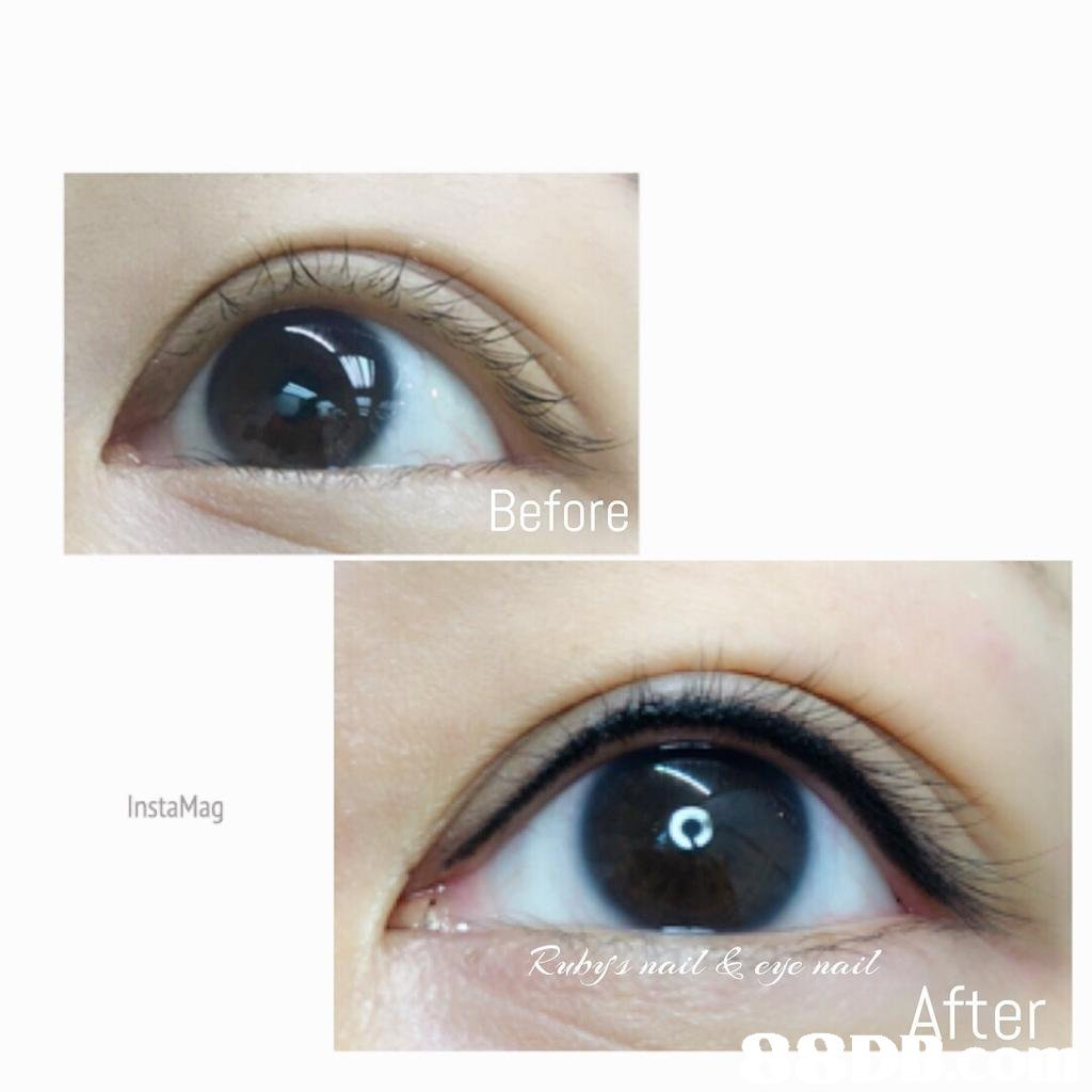 Before InstaMag Ruby nail& cje nail fter  Eyebrow,Eyelash,Eye,Iris,Skin