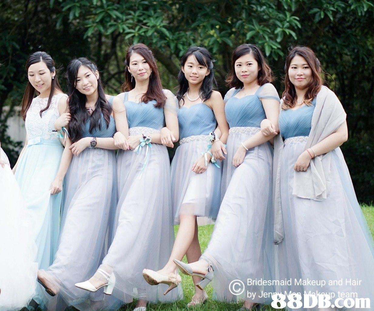 Bridesmaid Makeup and Hair com  Bridesmaid,Photograph,Dress,Bride,Bridal party dress