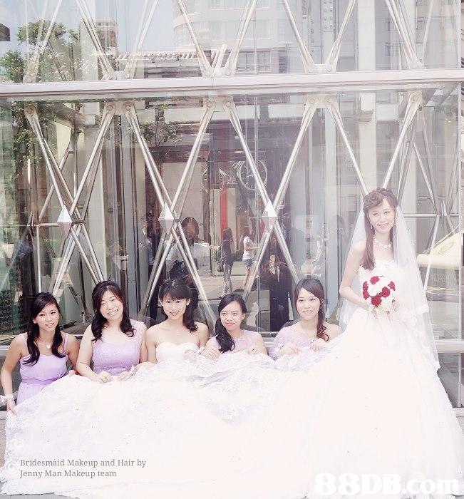 Bridesmaid Makeup and Hair by Jenny Man Makeup team  Photograph,Bride,Dress,Wedding dress,Gown