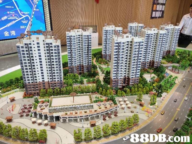 金湾   Scale model,Metropolitan area,Condominium,Property,Building