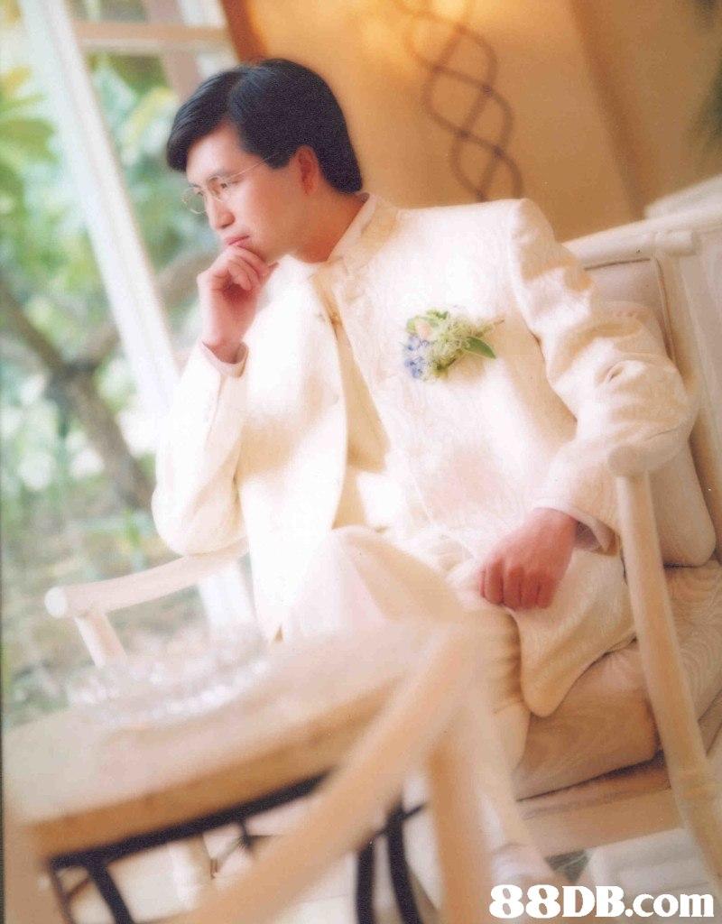 White,Photograph,Male,Dress,Wedding dress