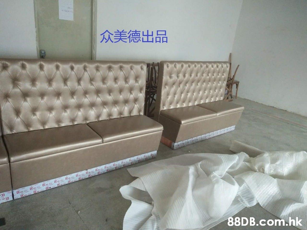 众美德出品 .hk  Couch,Furniture,Property,Room,Sofa bed