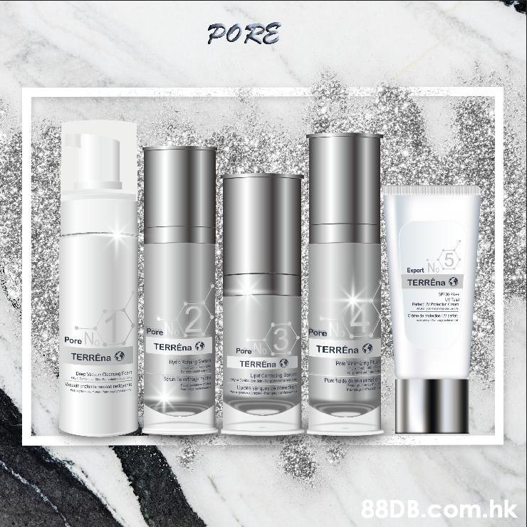 PORS No TERRÉna 43 Expert Pore Pore TERREna TERREna Pore TERREna Pone tu de gamnin com.hk  Product,Water,Beauty,Skin,Silver