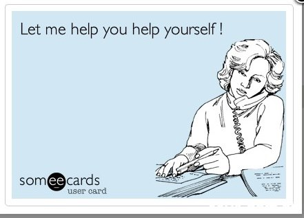 Let me help you help yourself! omee cards user card  Text,Cartoon