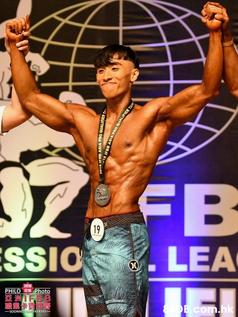 19 SSIO. LEA 2018 PHILO 1216 Photo 亞洲/I FB B 織業缶資格賽 B.com A14393-  Bodybuilder,Barechested,Bodybuilding,Muscle,Male