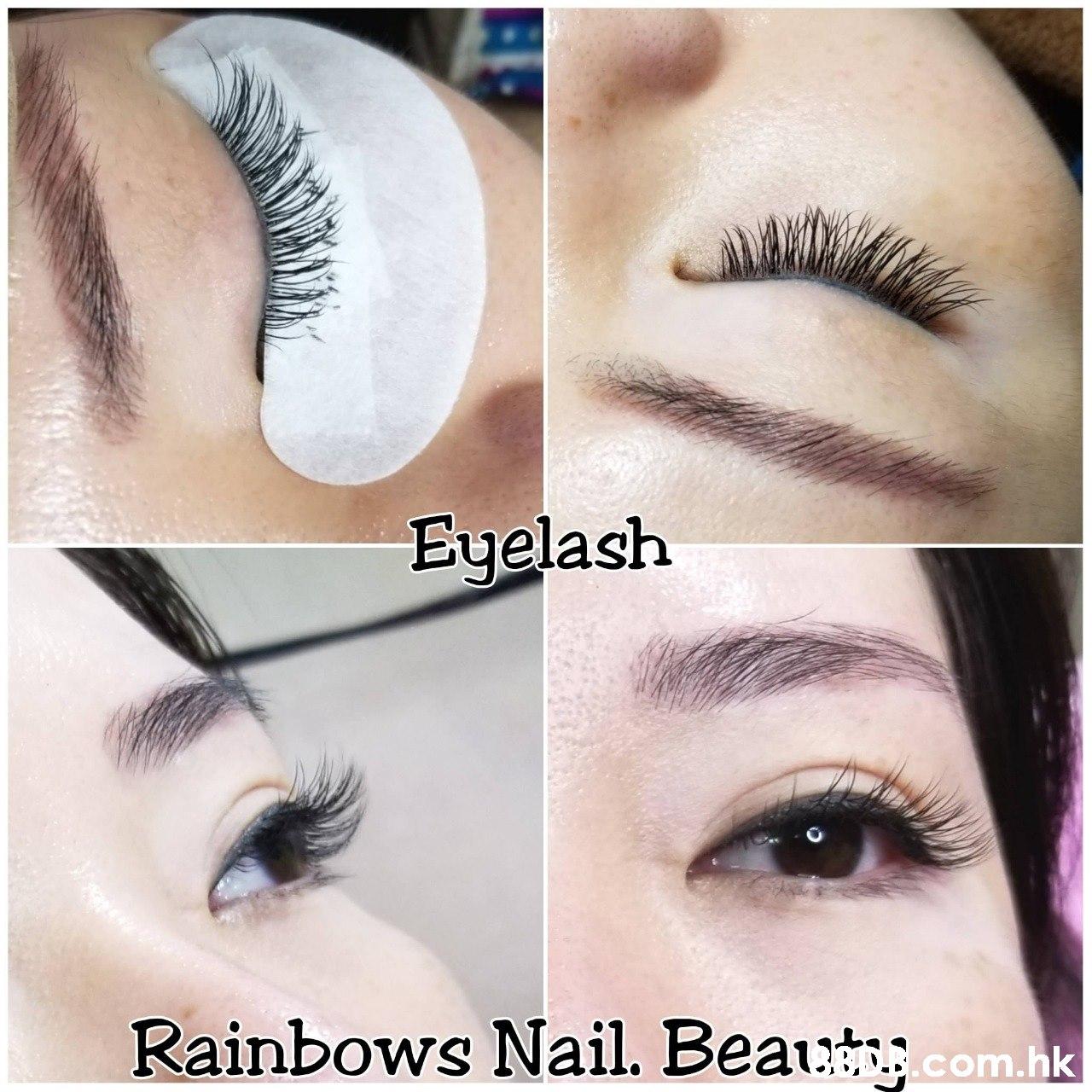 Euelash Rainbows Nail. Beau com.hk  Eyebrow,Eyelash,Eye,Skin,Eye shadow