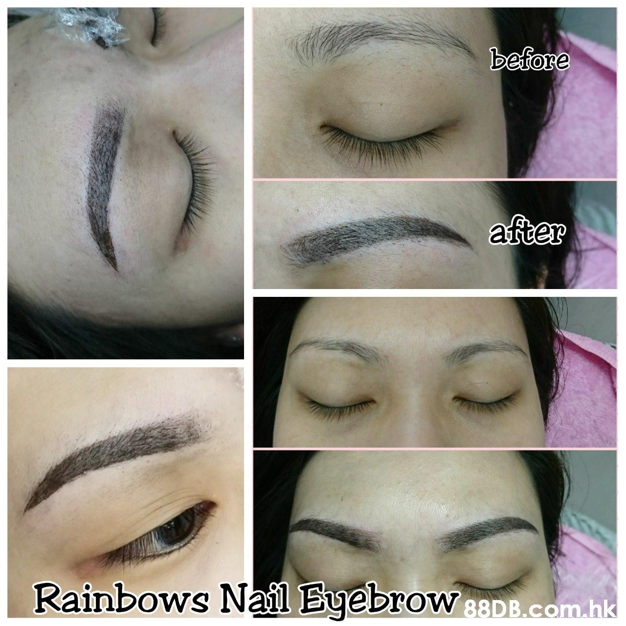 betore Rainbows Nail Eyebrow DrOW 88D B.com.hk  Eyebrow,Face,Skin,Eyelash,Eye