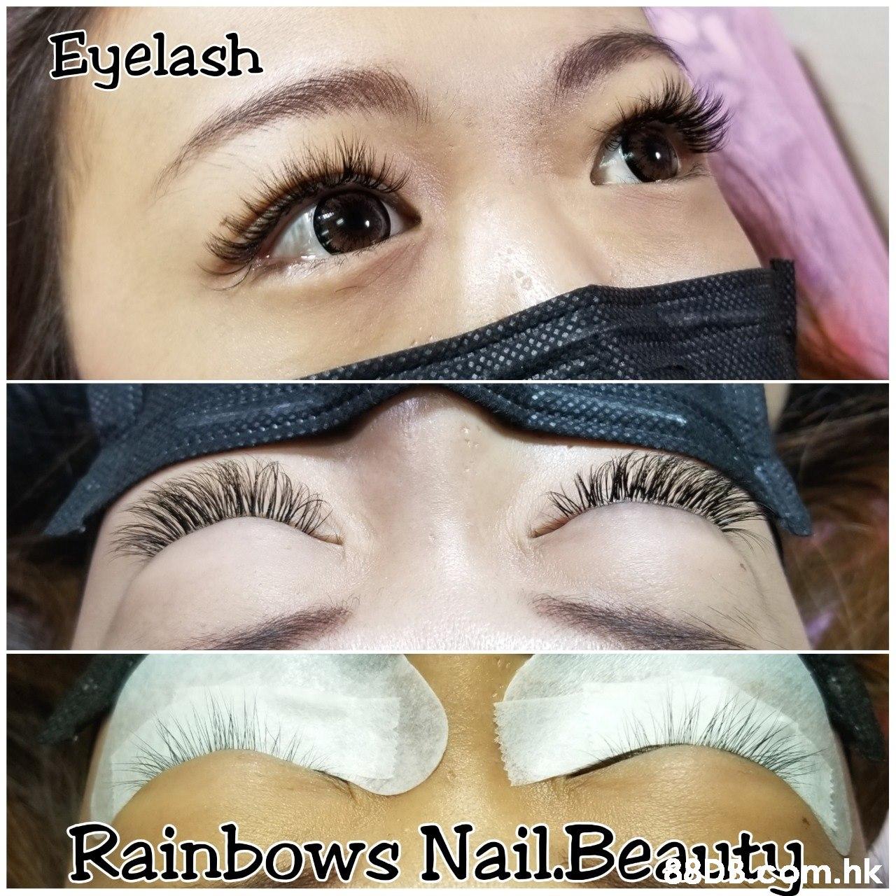 Euelash Rainbows Nail.Beasta hk  Eyebrow,Eyelash,Eye,Face,Skin