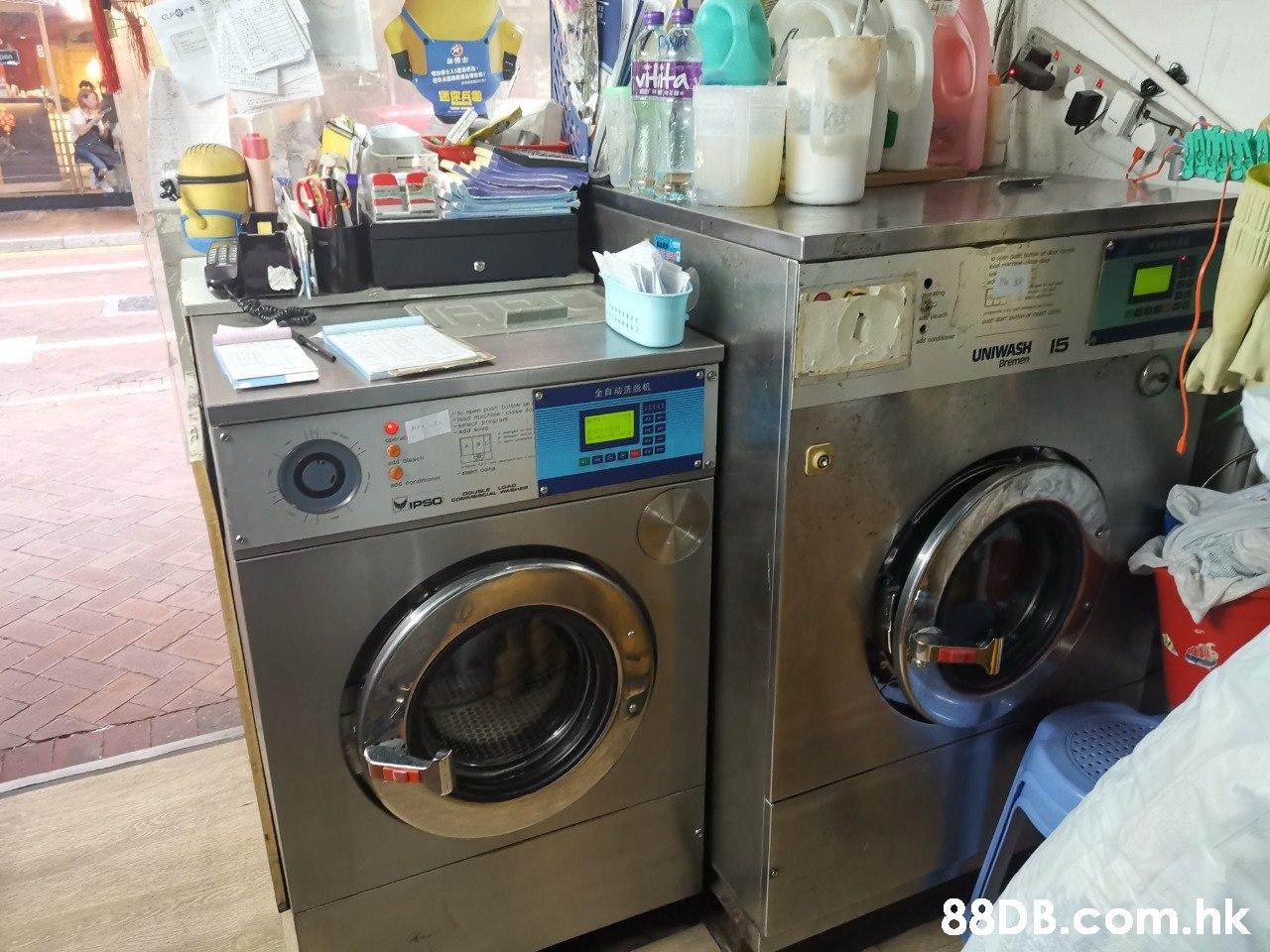 UNIWASH15 全自动洗脱机 B.com.hk  Washing machine,Laundry,Major appliance,Clothes dryer,Laundry room