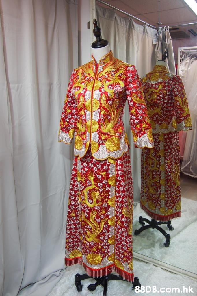 8DB.com.hk  Clothing,Yellow,Costume,Kimono,Textile