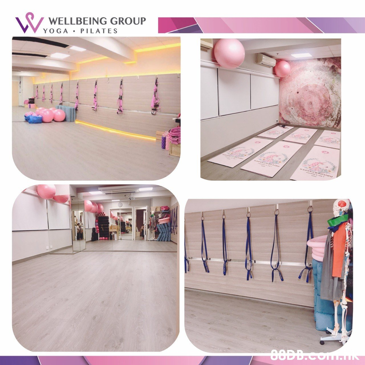 WELLBEING GROUP YOGA PILATES  Pink,Product,Room,Furniture,Shelf