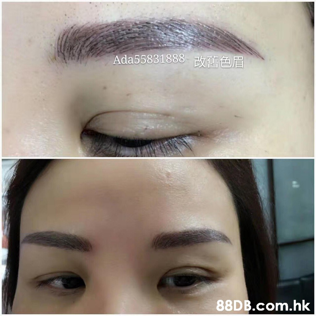 Ada55831888改舊 色眉 .hk  Eyebrow,Face,Forehead,Eyelash,Skin