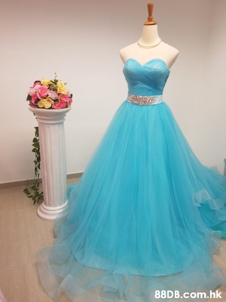 .hk  Dress,Gown,Clothing,Blue,Aqua