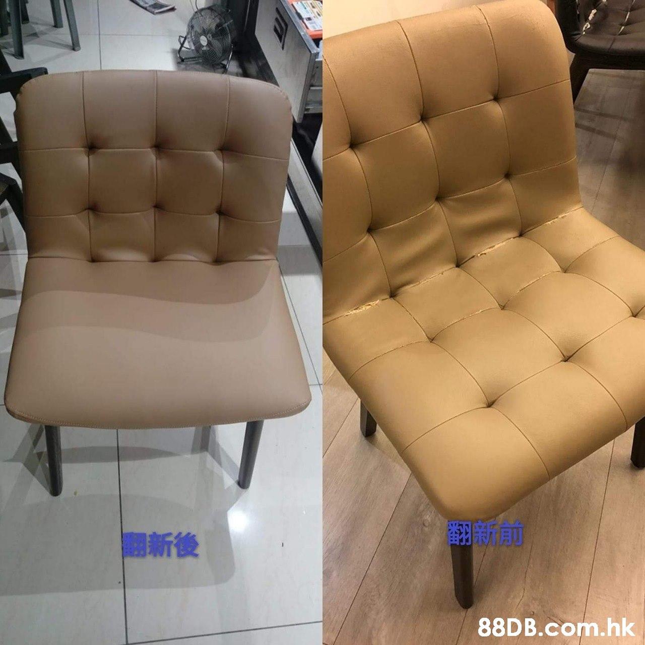 團新後 .hk  Chair,Furniture,Beige,Leather,Armrest