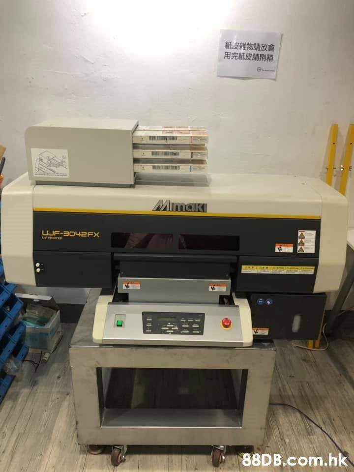 紙皮雜物請放倉 用完紙皮睛刑箱 Mimaki UJF-B042FX w PRINTER .hk  Electronics,Printer,Technology,Electronic device,Printing