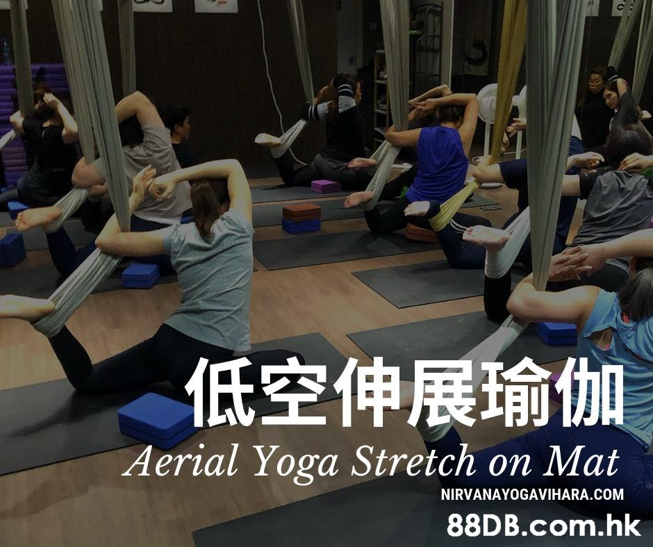 低空伸展瑜伽 Aerial Yoga Stretch on Mat NIRVANAYOGAVIHARA.COM .hk  Physical fitness,Strength training,Yoga,Pilates,Exercise