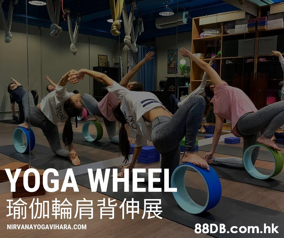 YOGA WHEEL 瑜伽輪肩背伸展 .hk NIRVANAYOGAVIHARA.COM NO  Physical fitness,Photo caption,
