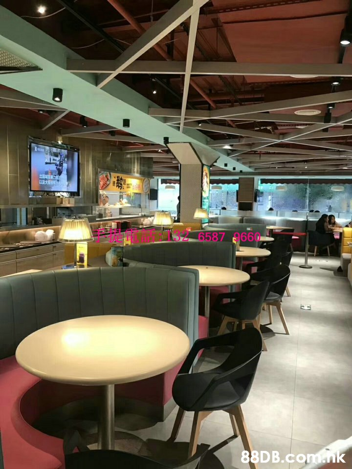 6587 9660 .nk  Building,Interior design,Restaurant,Furniture,Food court