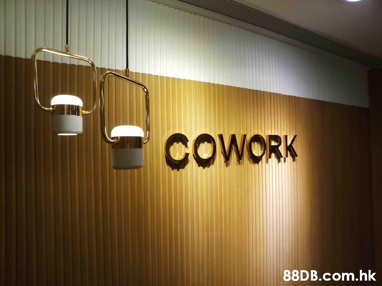 COWORK .hk  Light,Lighting,Ceiling,Wall,Interior design
